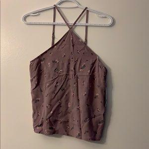 SOLD - Floral light purple top